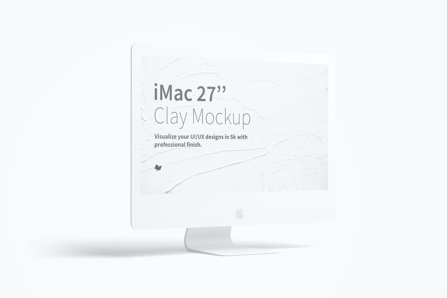"Clay iMac 27"" Mockup, Left View by Original Mockups on Original Mockups"