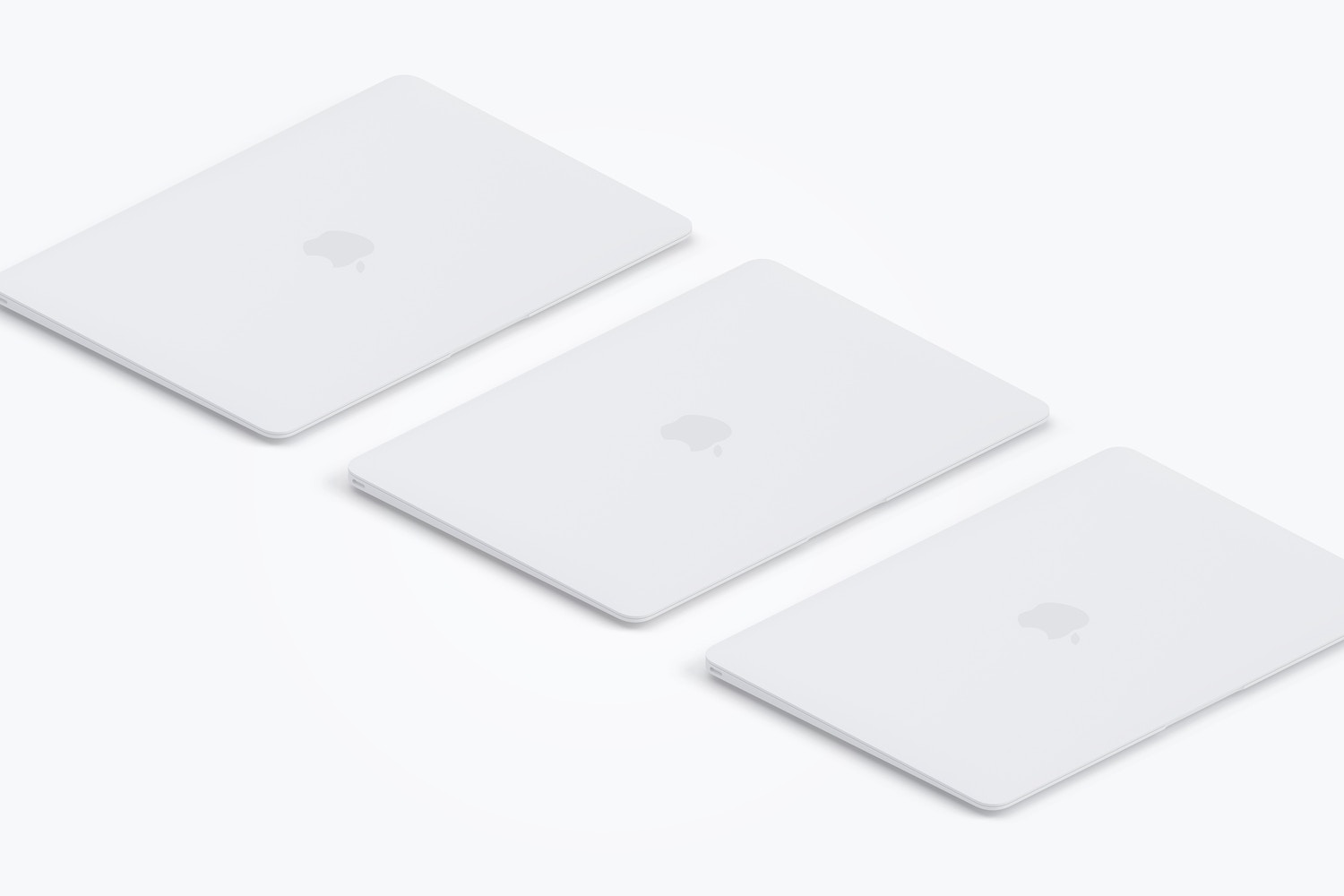 Clay MacBook Mockup, Isometric Right View 02 (3) by Original Mockups on Original Mockups
