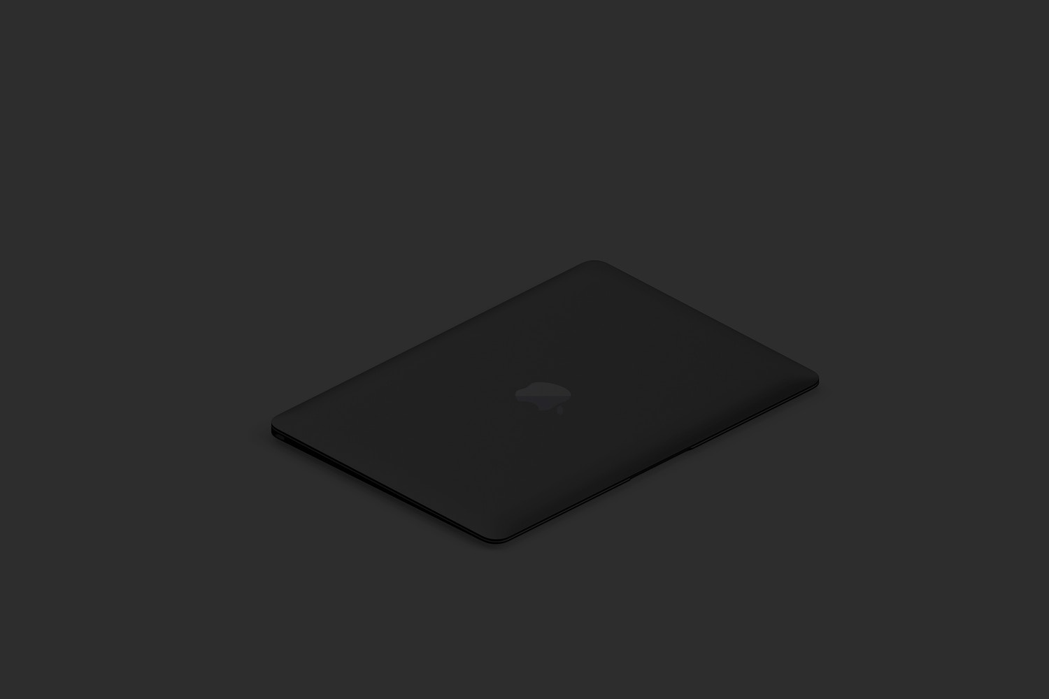 Clay MacBook Mockup, Isometric Right View 02 (5) by Original Mockups on Original Mockups