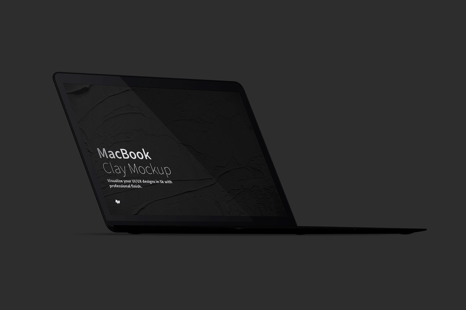 Clay MacBook Mockup, Front Left View (6) by Original Mockups on Original Mockups