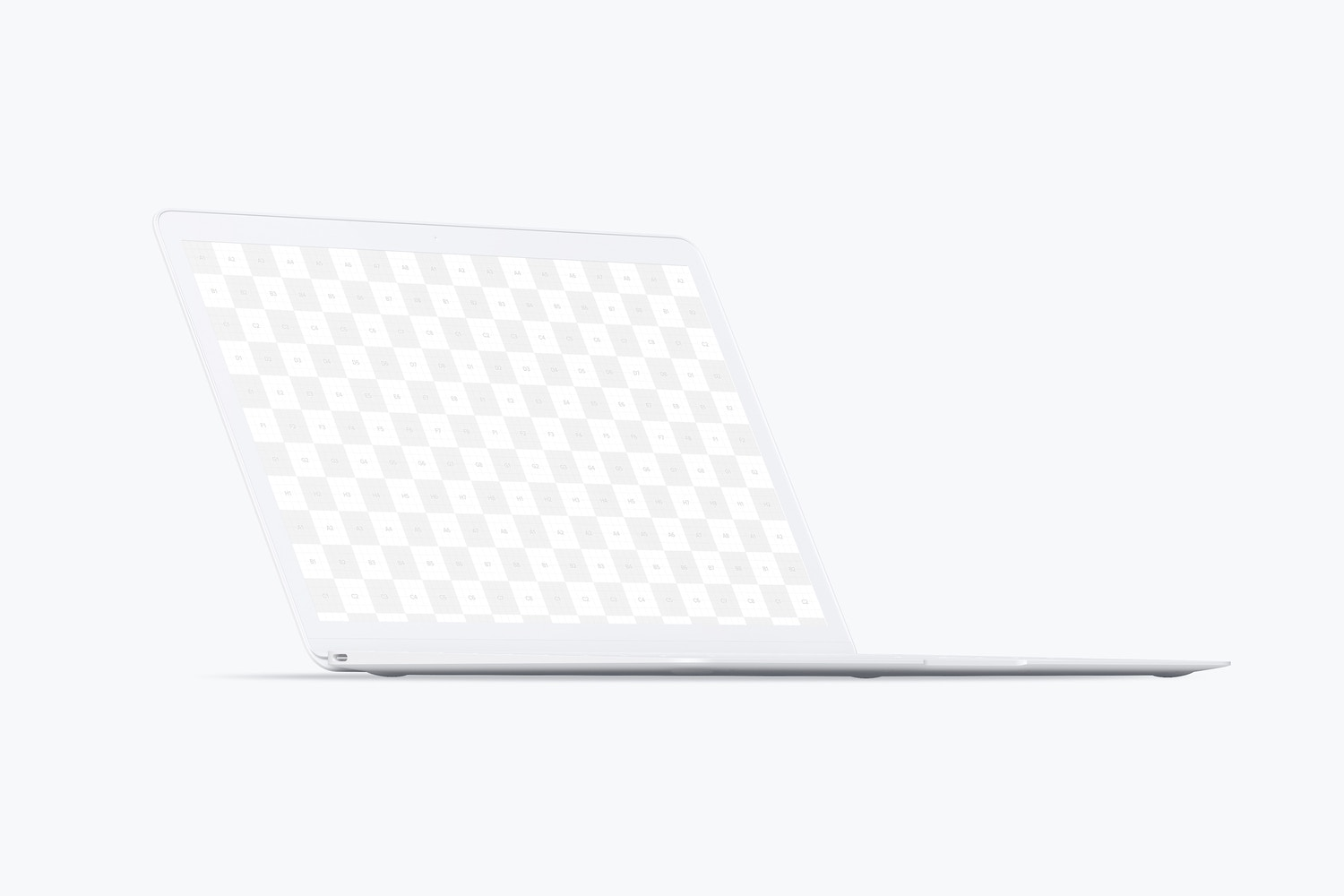 Clay MacBook Mockup, Front Left View (2) by Original Mockups on Original Mockups