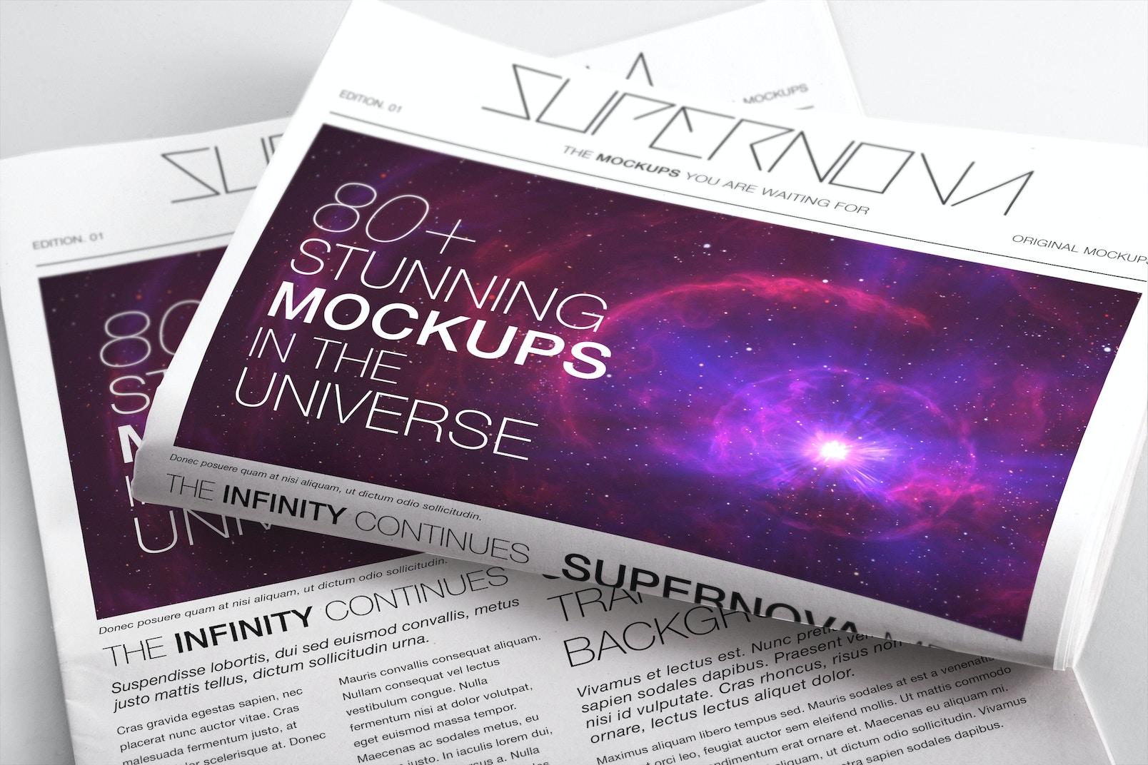 Newspaper PSD Mockup 05