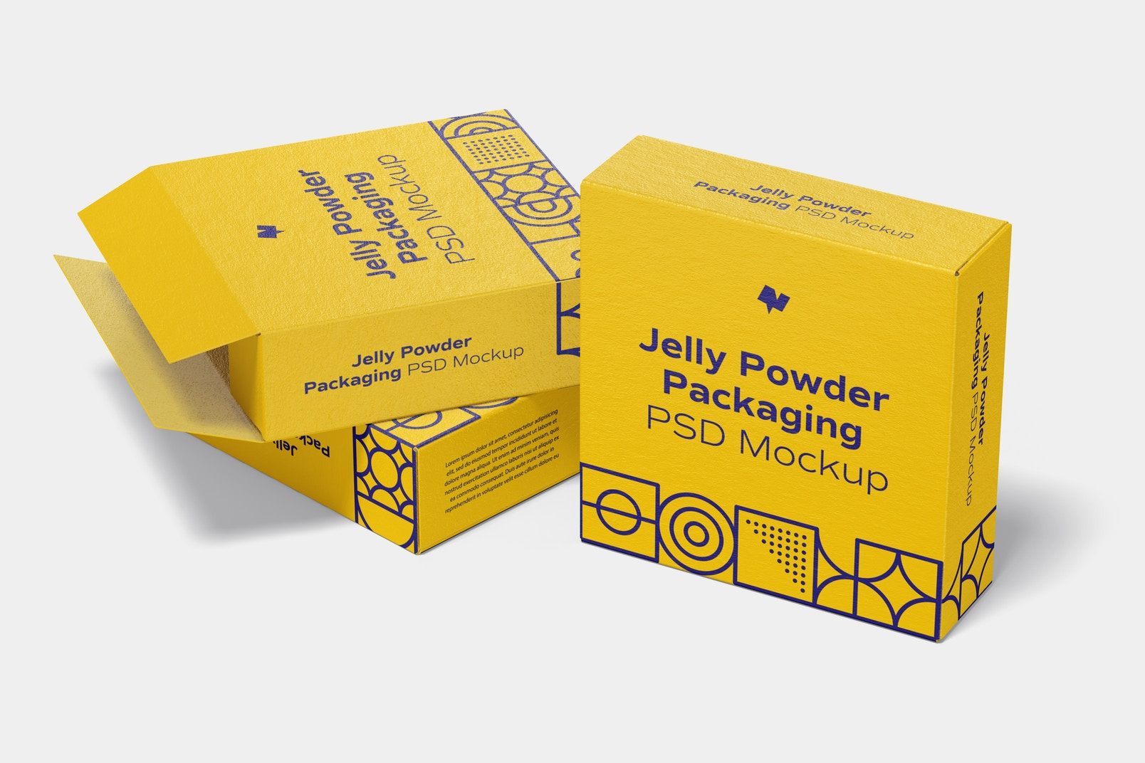 Jelly Powder Packaging Mockup, Right View
