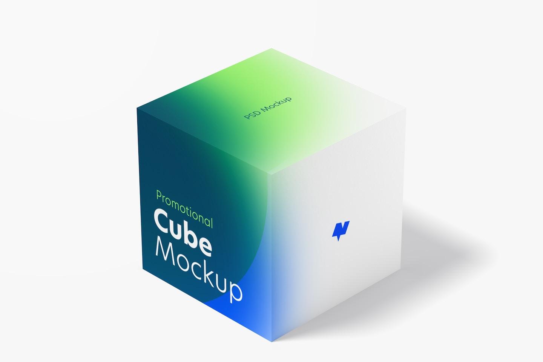 Promotional Cube Display Mockup