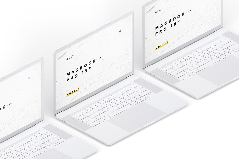 """Maqueta de MacBook Pro de 15"""" con Touch Bar, Vista Isométrica Izquierda, Multicolor (5) por Original Mockups en Original Mockups"""