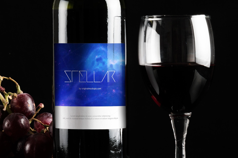 Maqueta de Botella de Vino 6