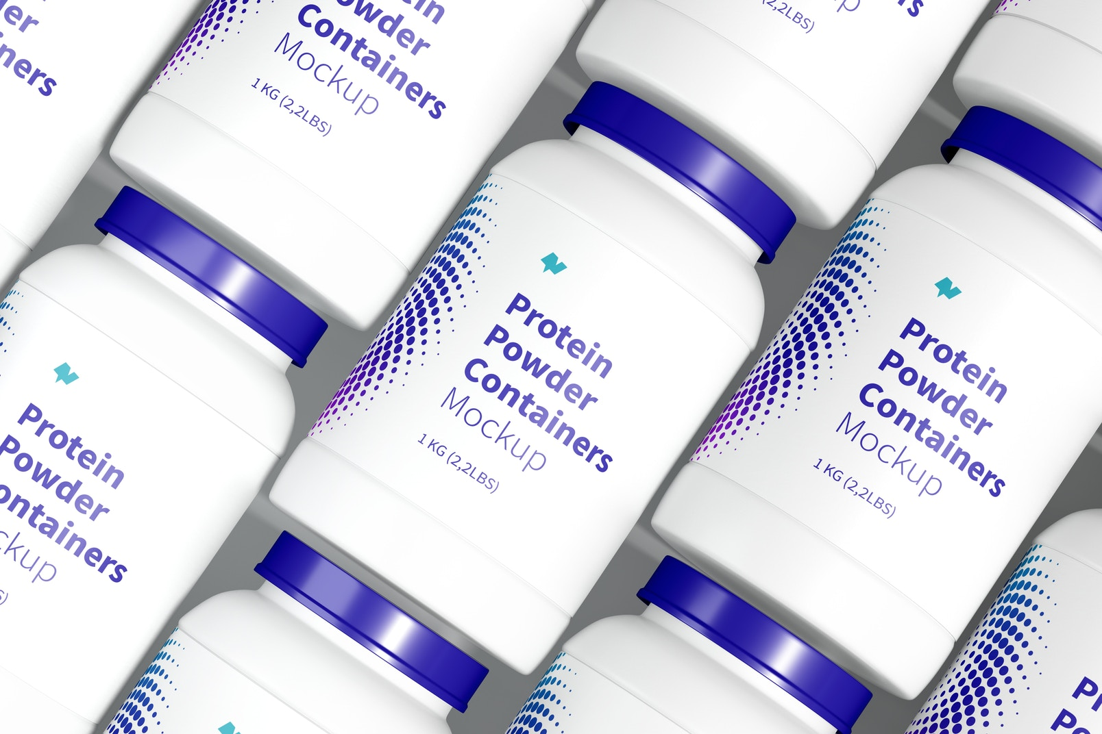 Protein Powder Container Set Mockup