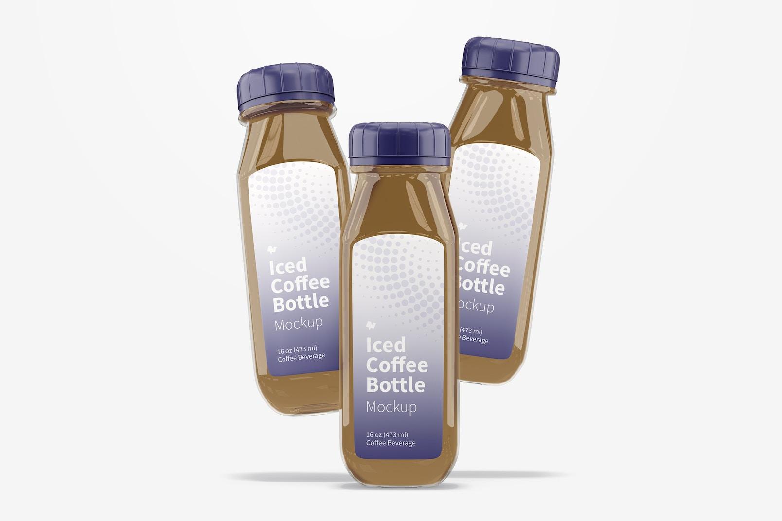 Iced Coffee Glass Bottles Mockup