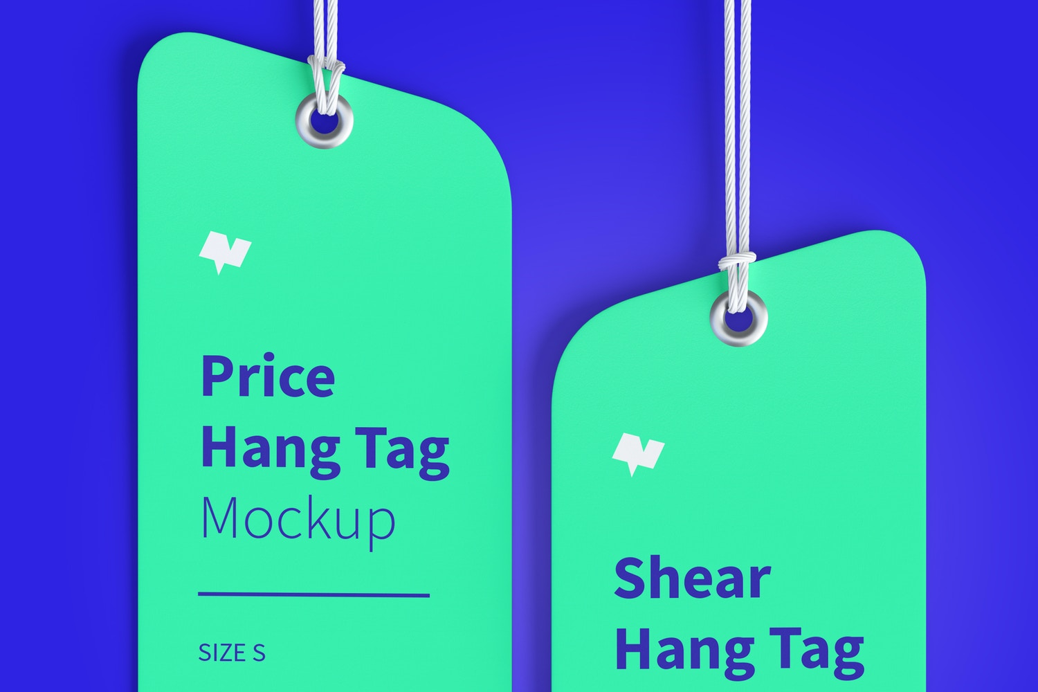 Price Hang Tags Mockup with String