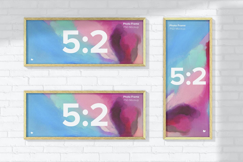 5:2 Photo Frames Mockup