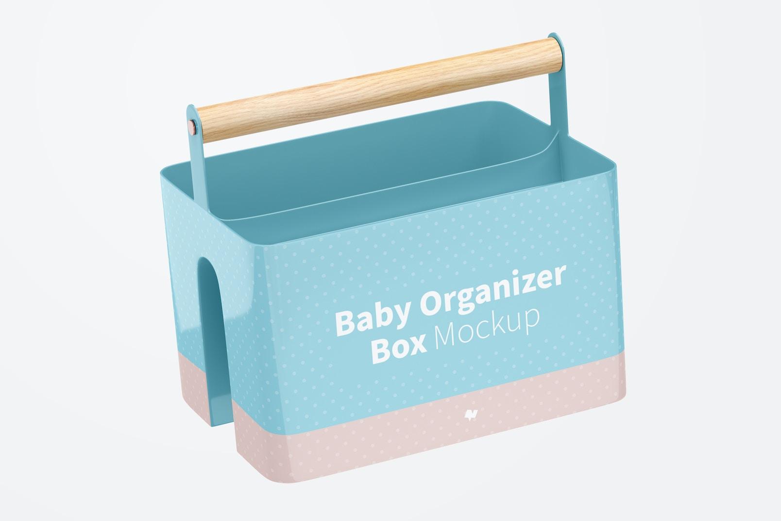 Baby Organizer Box Mockup, Falling