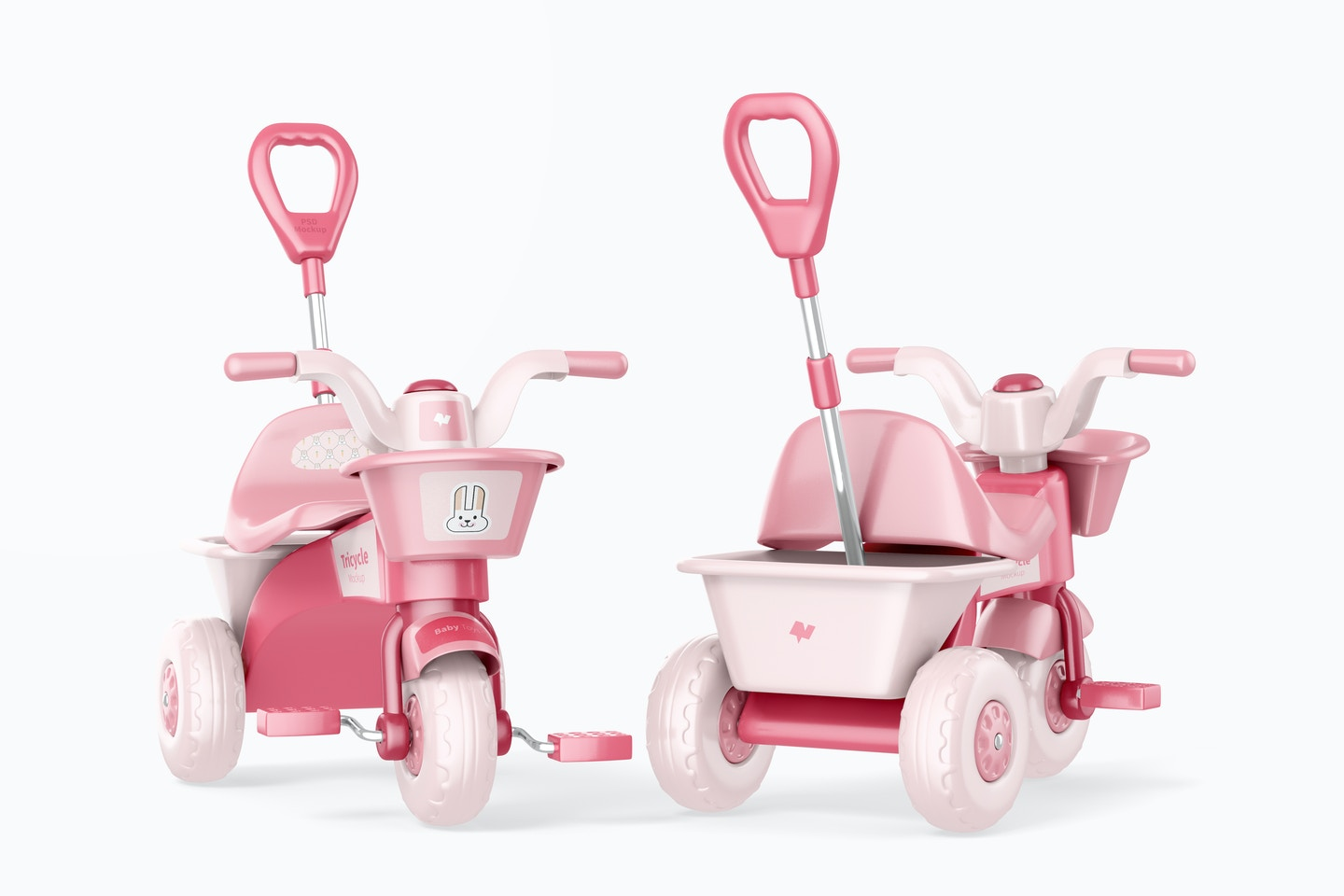 Tricycles Mockup, Front and Back View