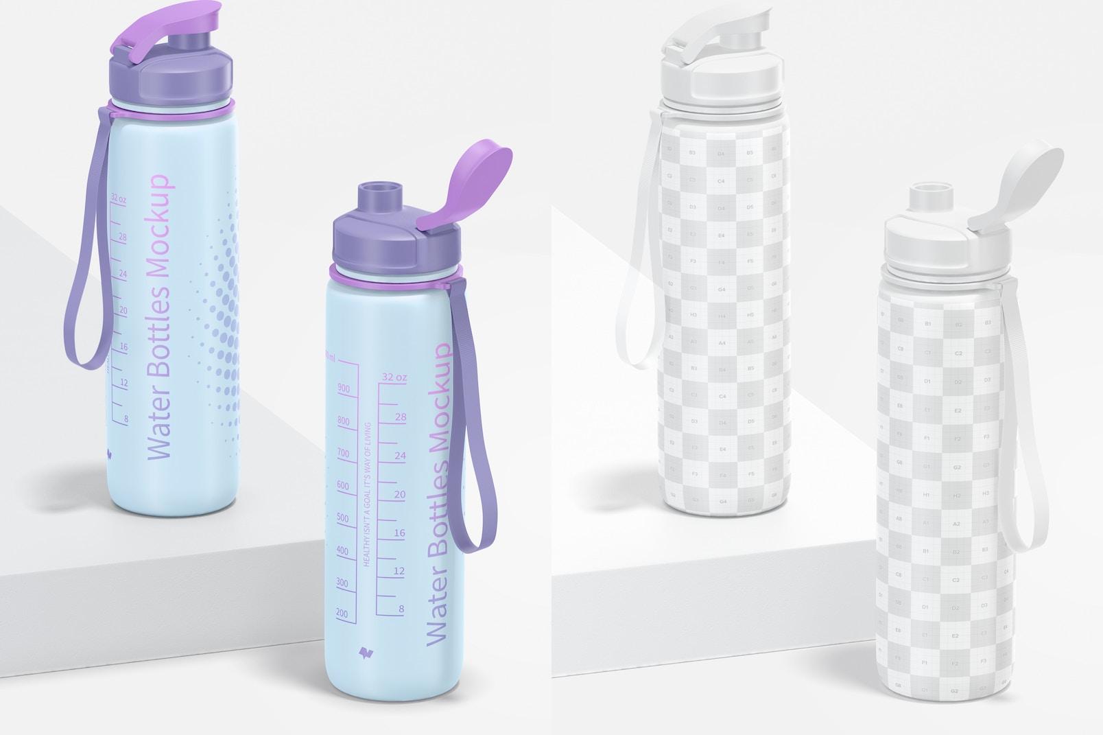 32 oz Water Bottles Mockup