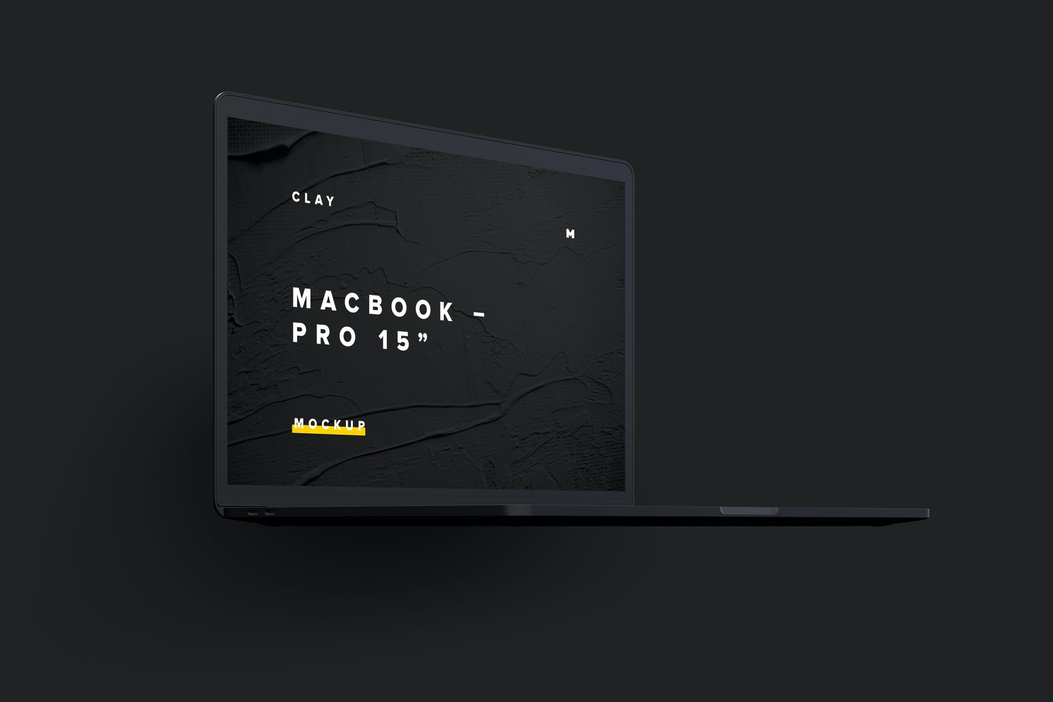 "Clay MacBook Pro 15"" with Touch Bar, Front Left View Mockup 02 (4) by Original Mockups on Original Mockups"