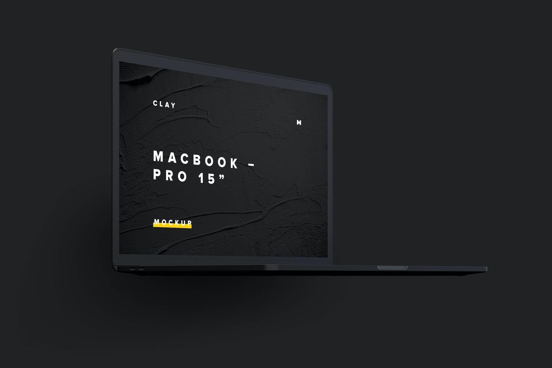 """Maqueta de MacBook Pro de 15"""" con Touch Bar, Vista Frontal Derecha, Multicolor 02 (4) por Original Mockups en Original Mockups"""