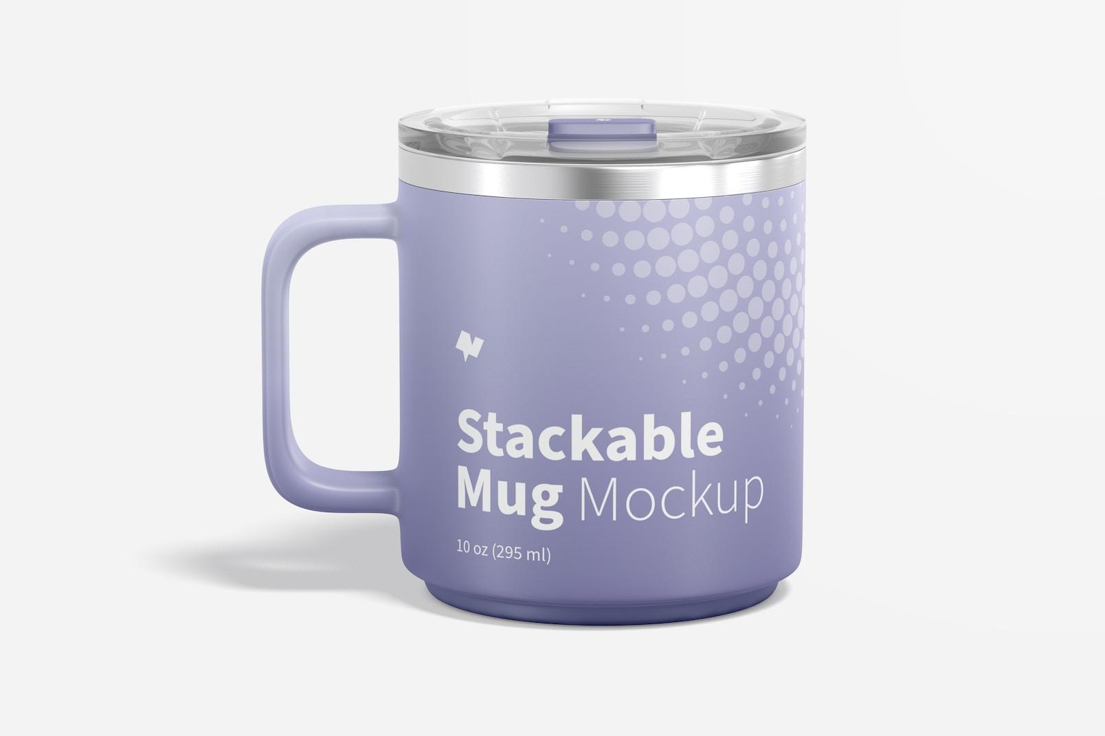 10 oz Stackable Mug Mockup, Front View