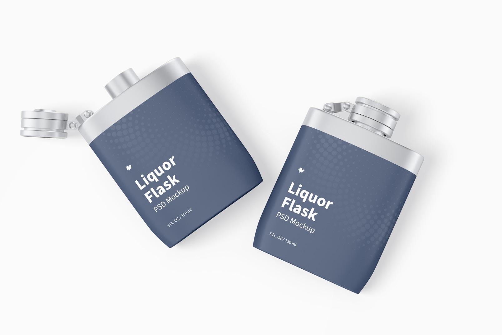 Maqueta de Envases para Licor, Vista Superior