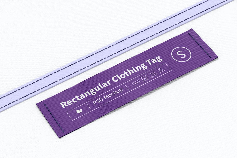 Rectangular Clothing Tag Mockup 02