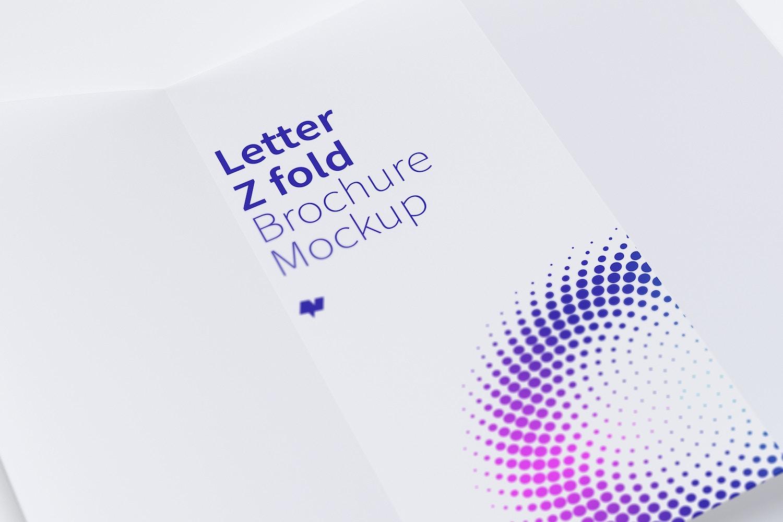 Letter Z Fold Brochure Mockup 03 by Original Mockups on Original Mockups