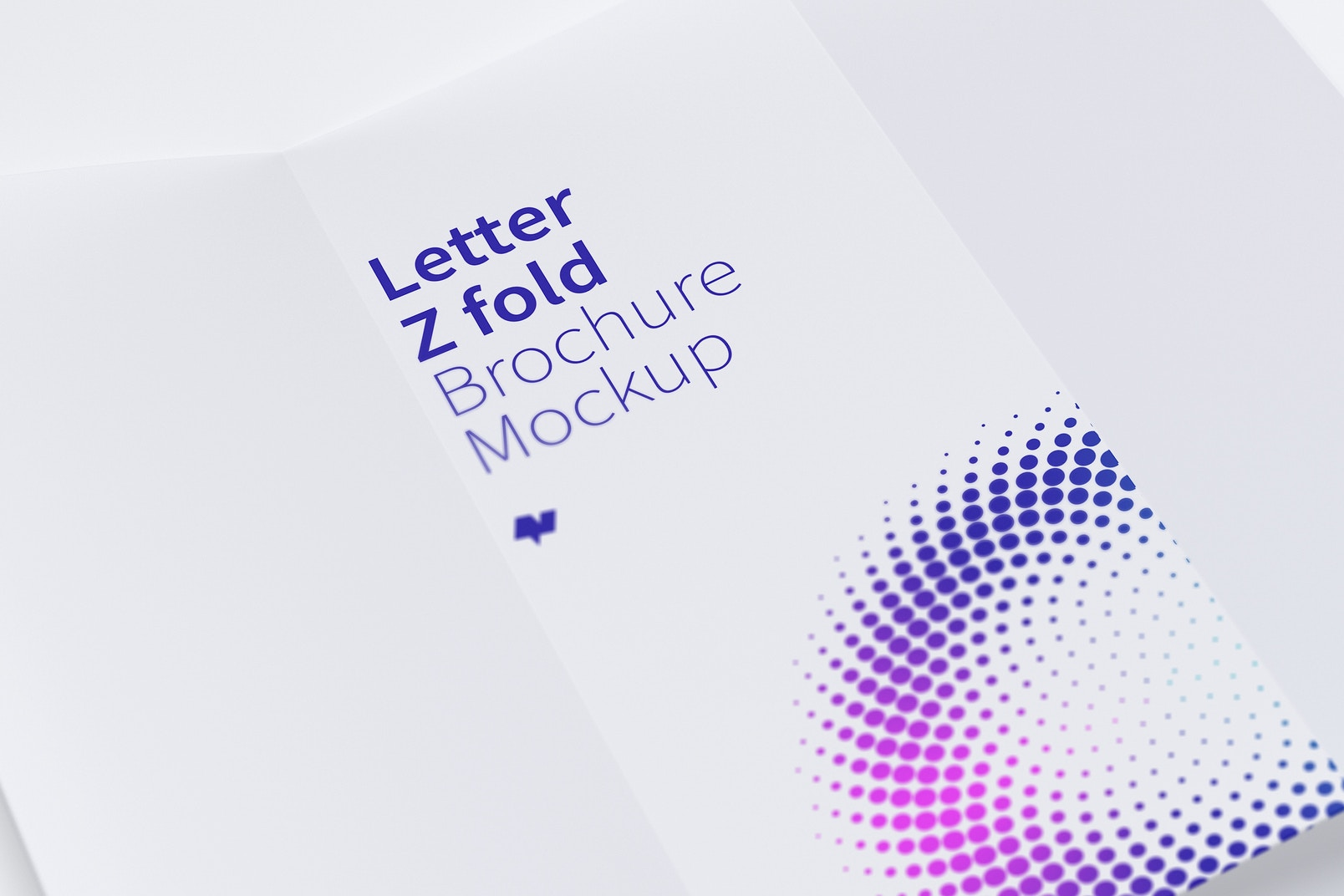 Letter Z Fold Brochure Mockup 03