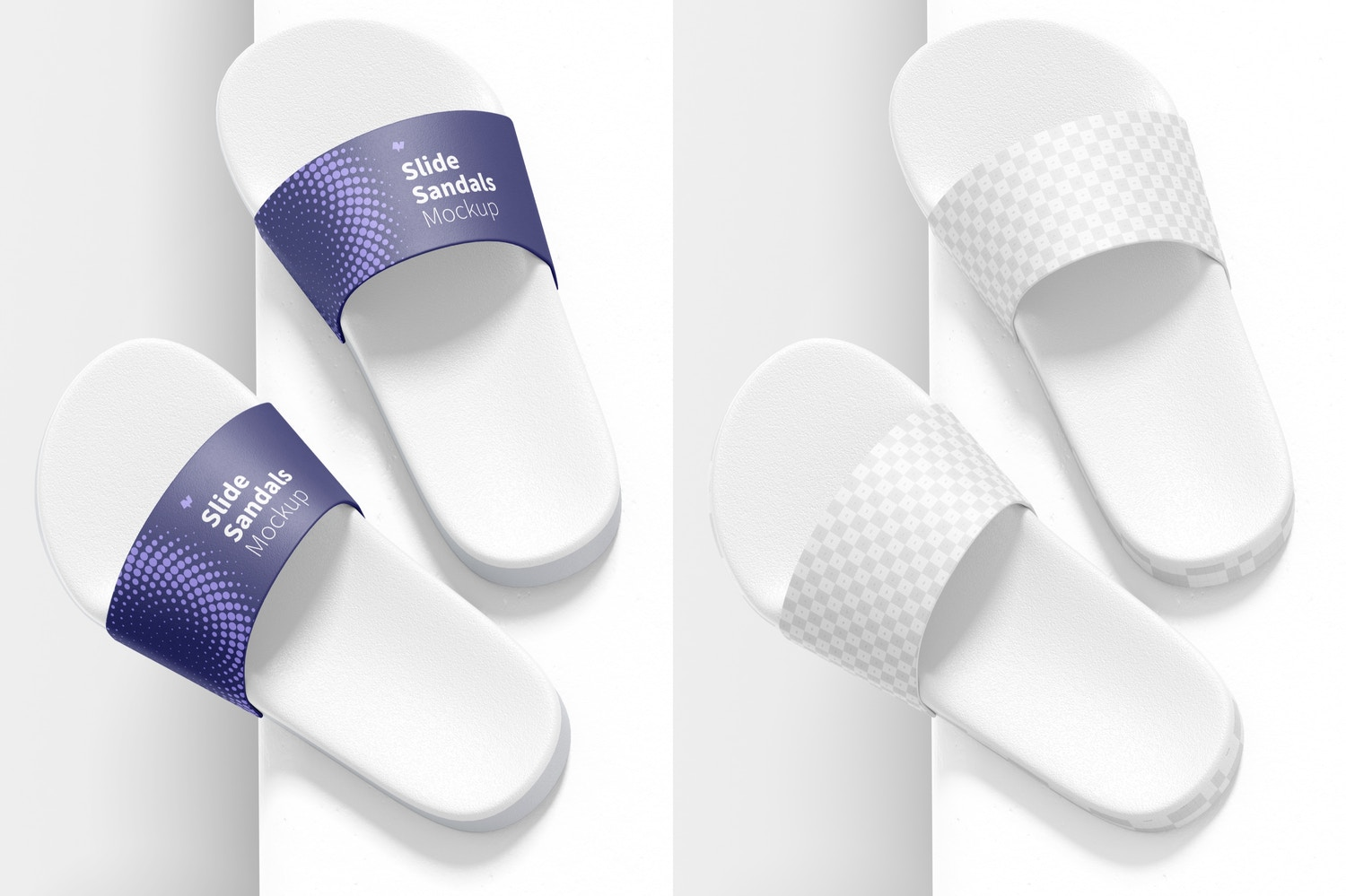 Slide Sandals Mockup, Right View