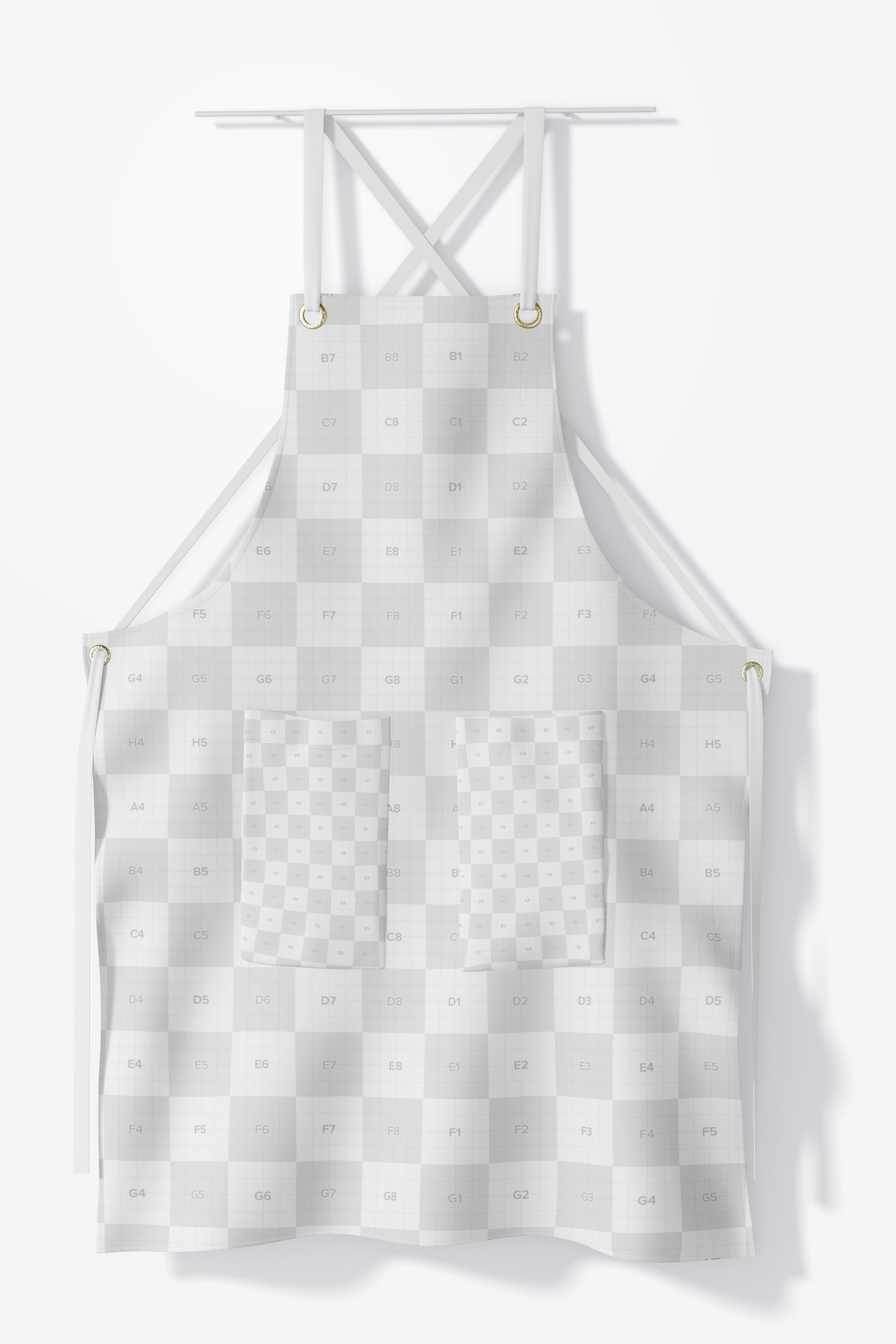 In this mockup you will be able to cuztomize all the apron.