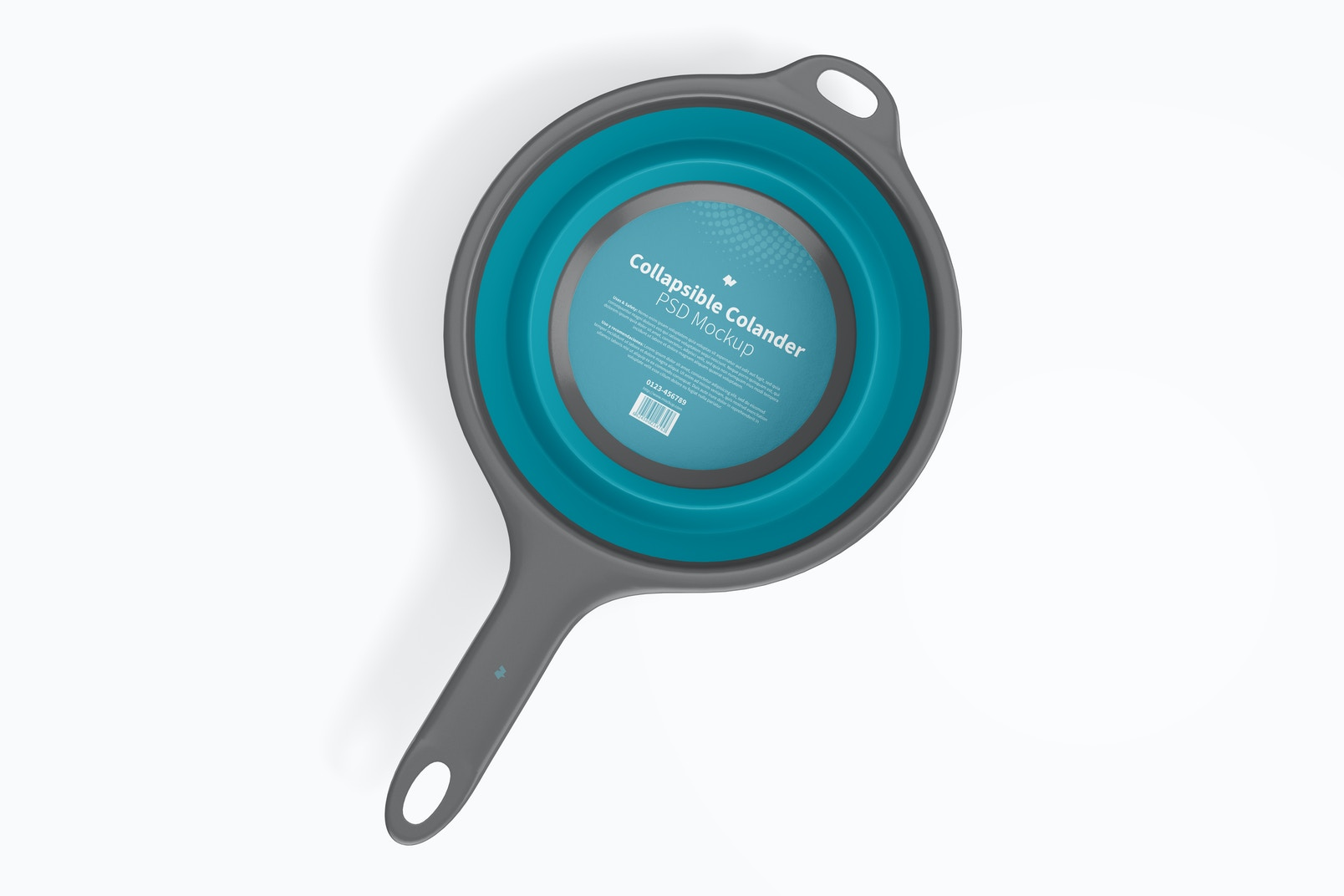Collapsible Colander Mockup, Top View