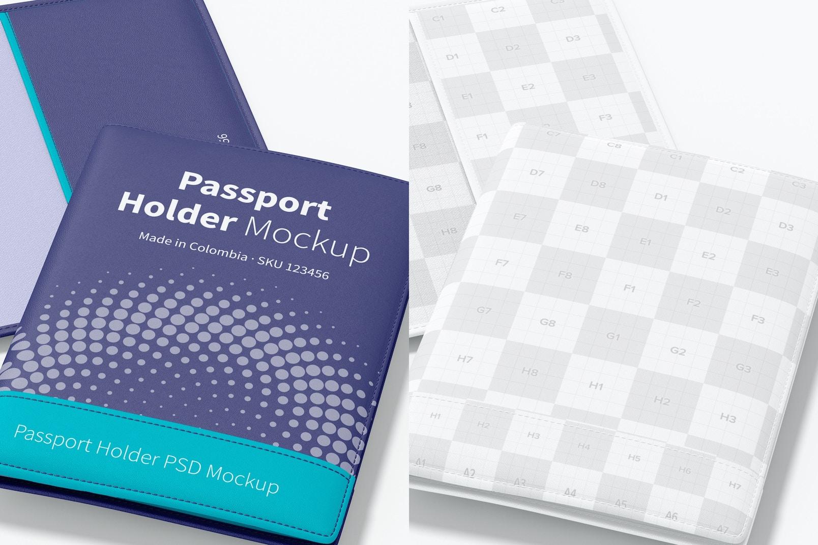 Passport Holder Mockup, Close Up
