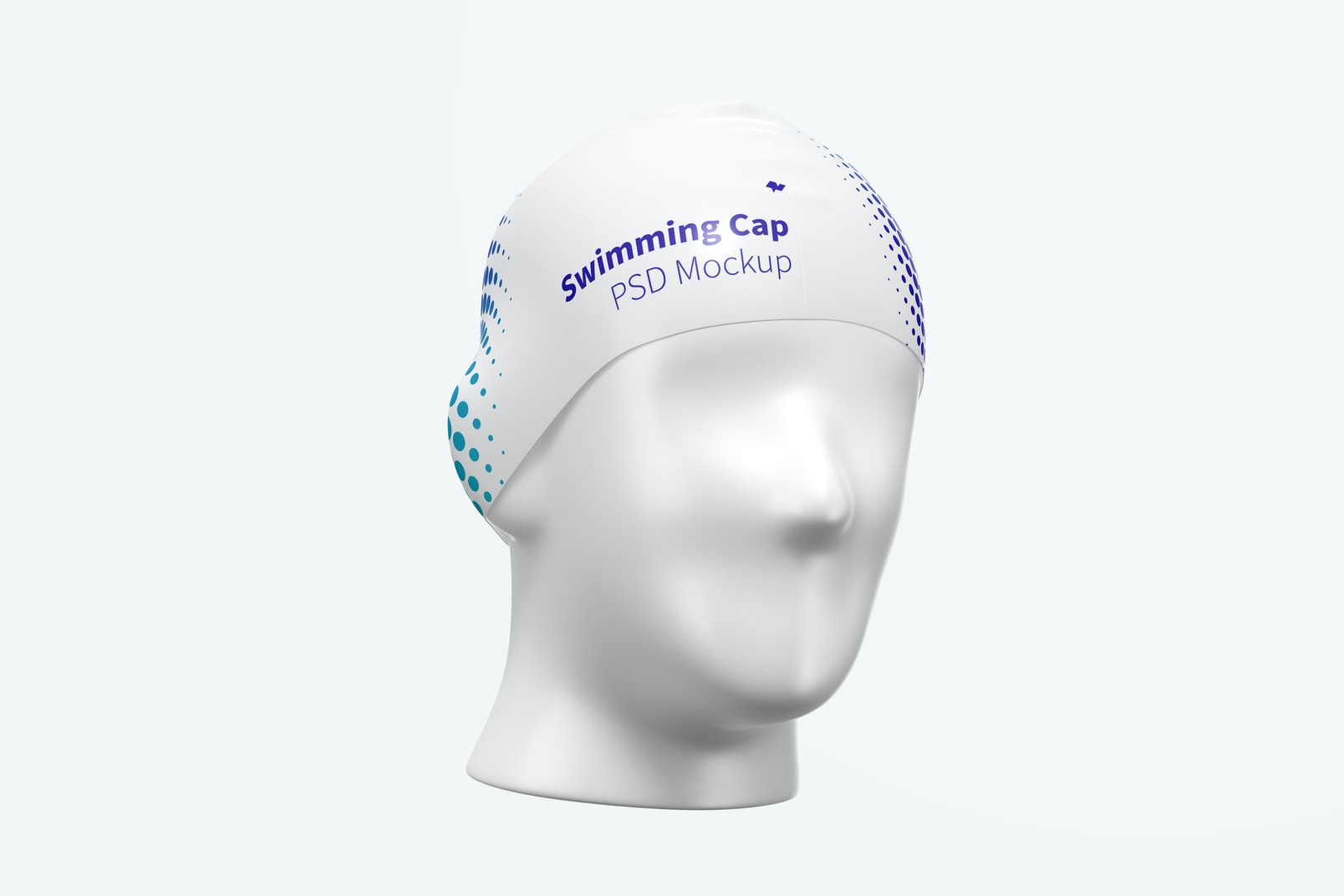 Swimming Cap on Head Mockup
