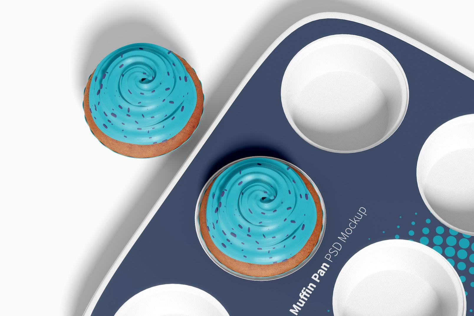 Muffin Pan Mockup, Close Up
