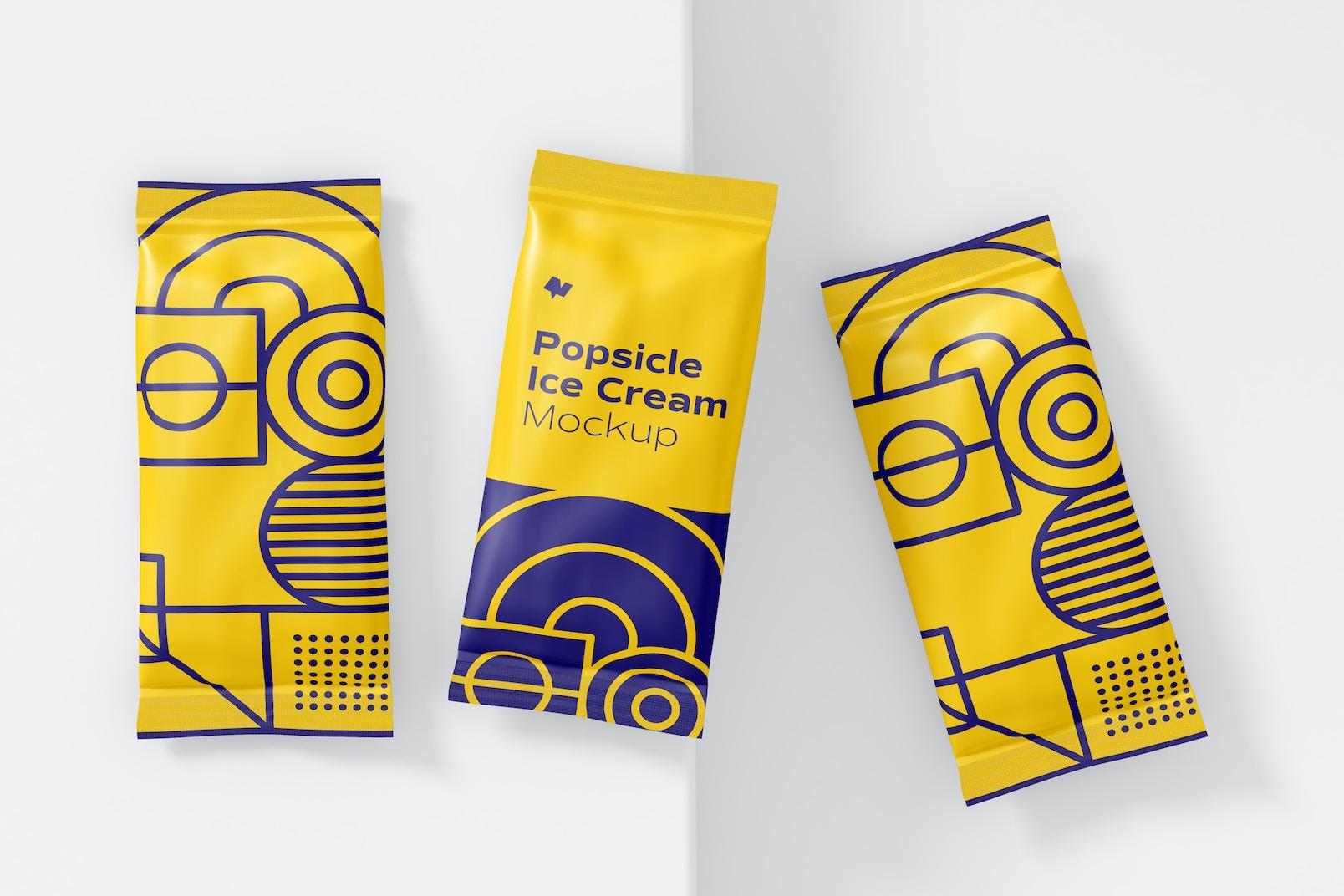 Popsicle Ice Cream Packaging Mockup