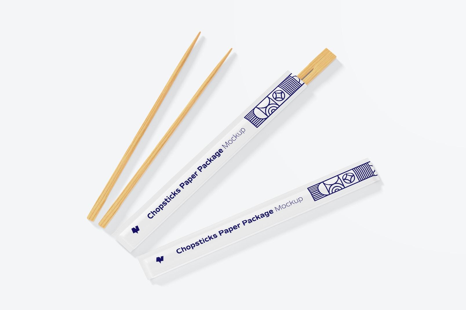 Chopsticks Paper Packages Mockup