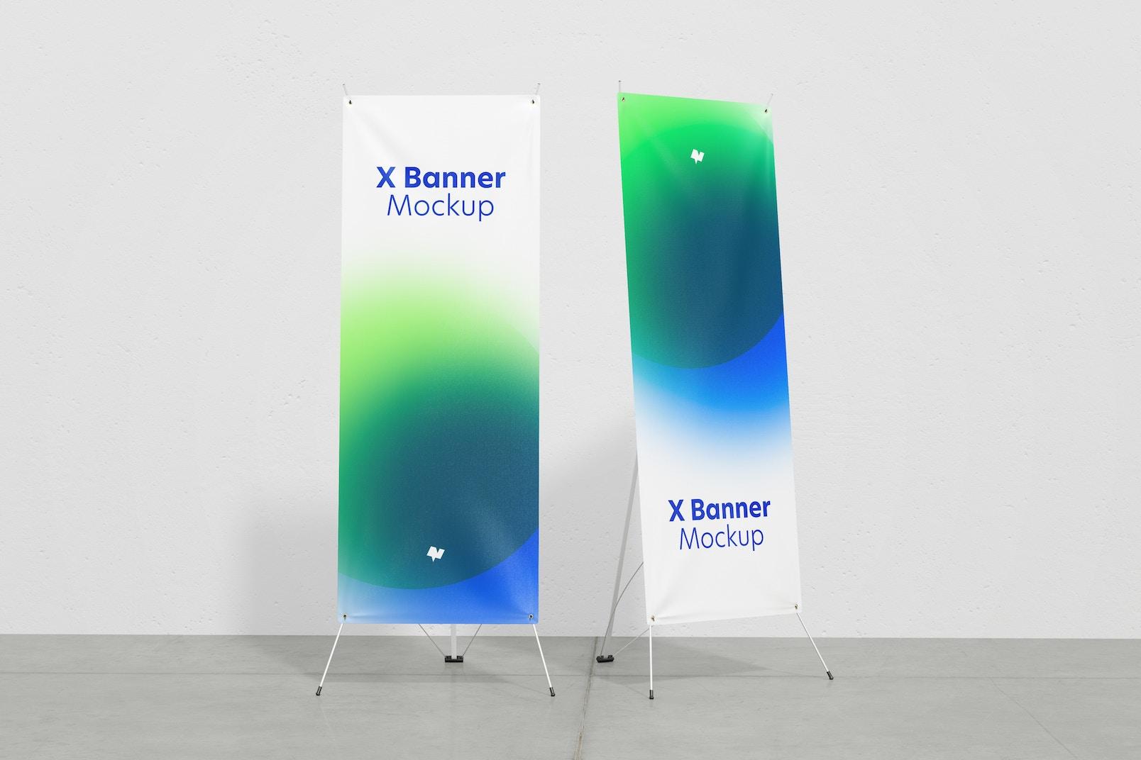 X Banners Mockup