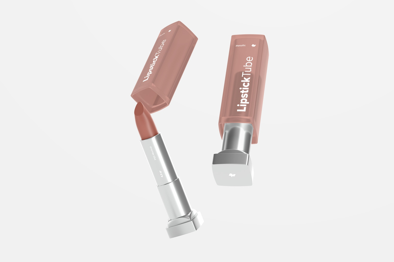 Metallic Lipstick Tubes Mockup, Falling