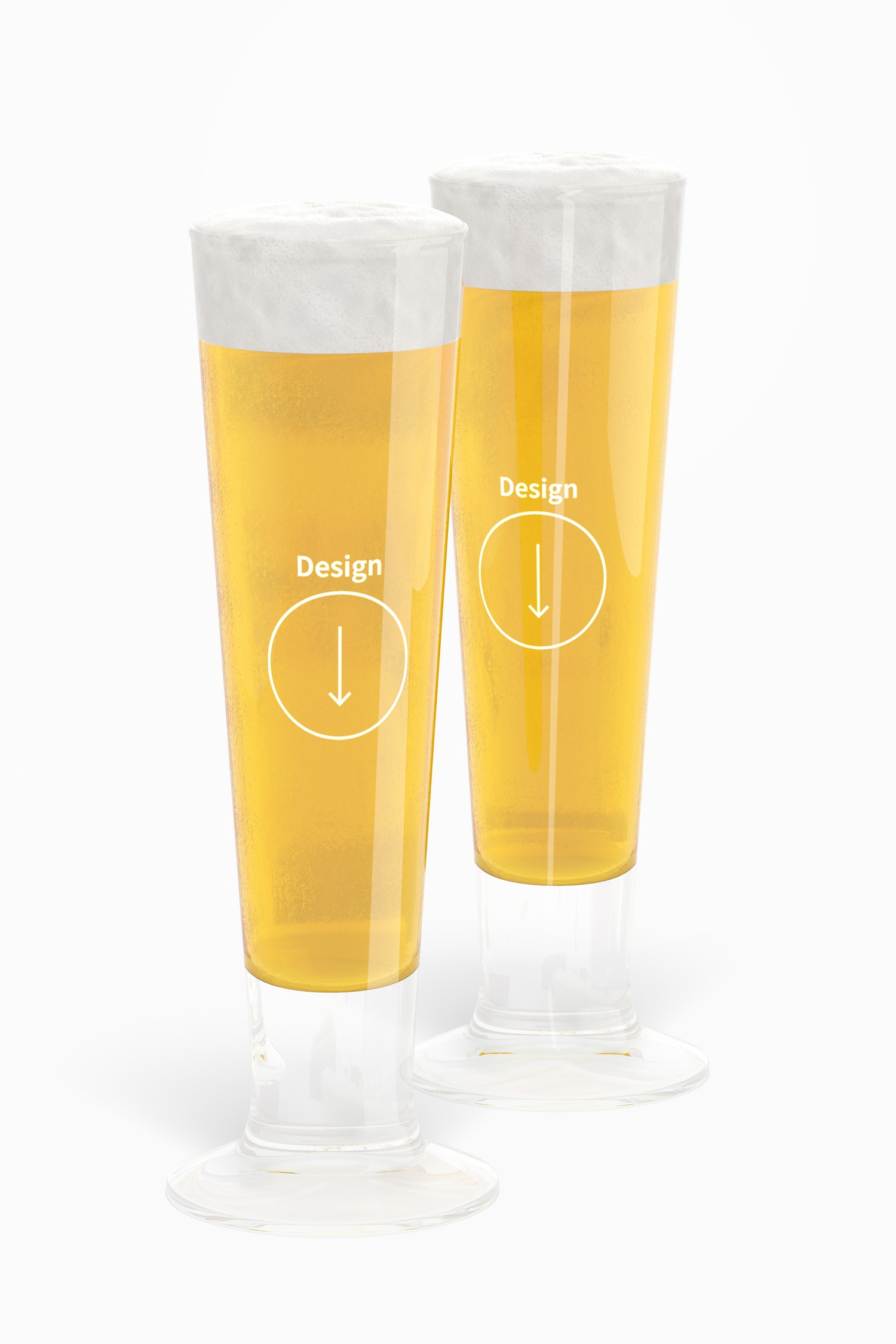 14 oz Glass Beer Cups Mockup 02