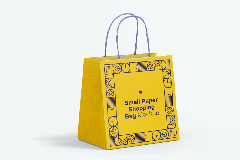 Small Paper Shopping Bag Mockup