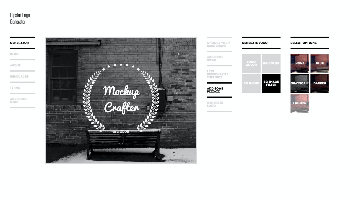 Need a Hipster Logo? Make Your Own For Free With This. by Original Mockups on Original Mockups