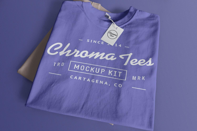 Folded T-Shirts Mockup 01 (1) by Antonio Padilla on Original Mockups
