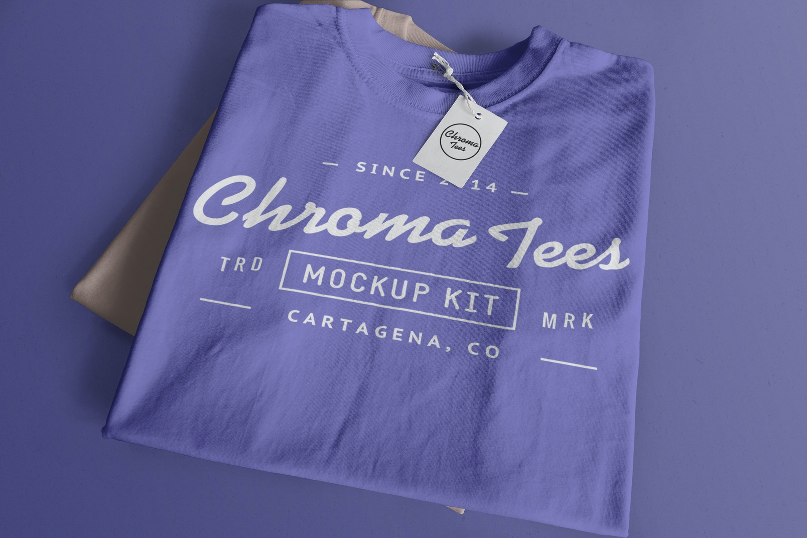 Folded T-Shirts Mockup 01