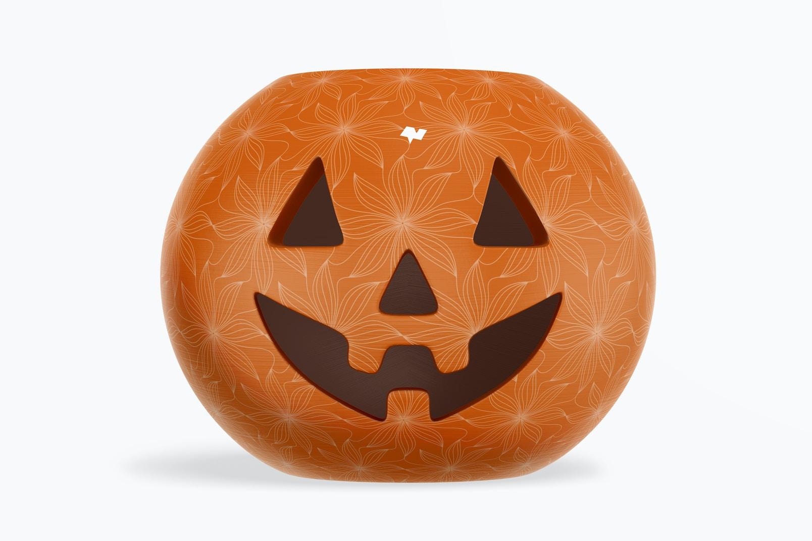 Ceramic Halloween Pumpkin Mockup