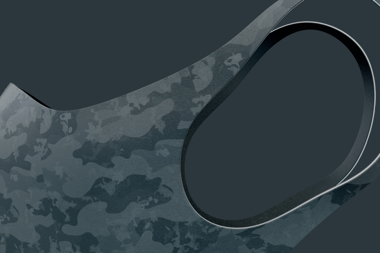 Neoprene Guard Face Mask Mockup, Right View 02