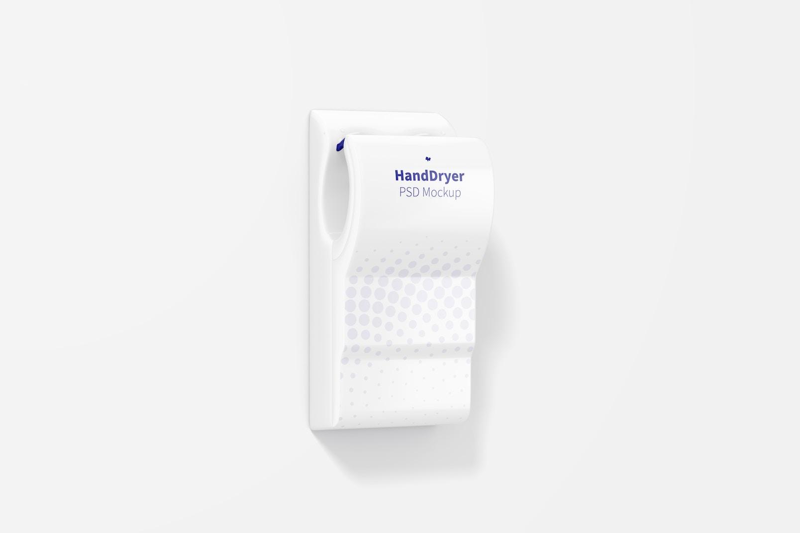 Hand Dryer on Wall Mockup