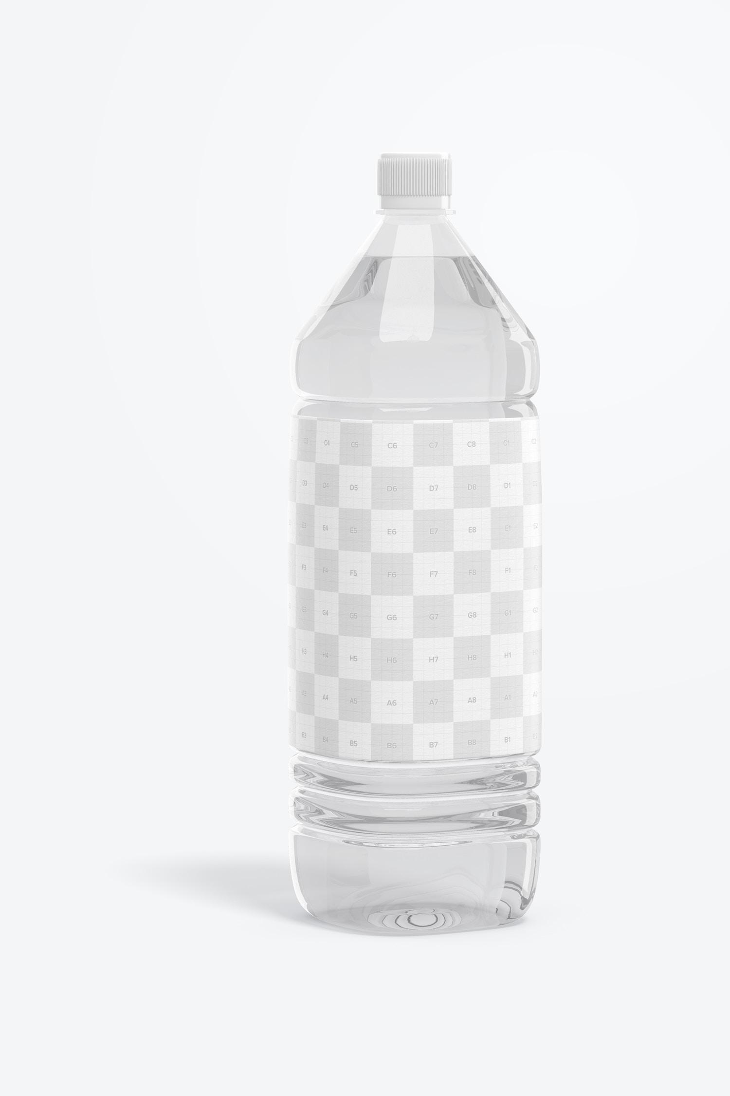 1L Clear Water Bottle Mockup