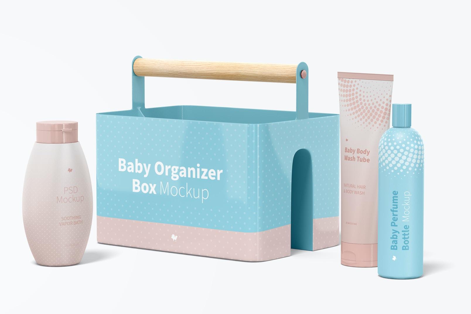 Baby Organizer Box Mockup, Right View