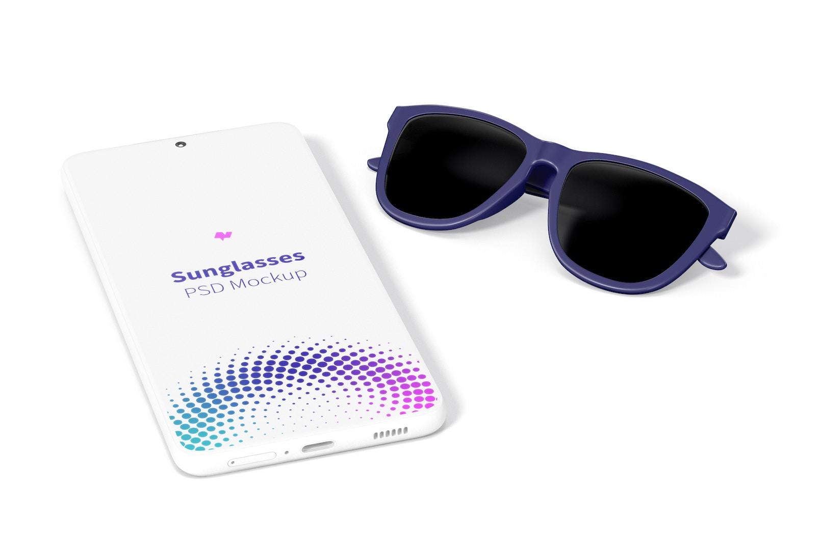 Sunglasses Mockup, Right View