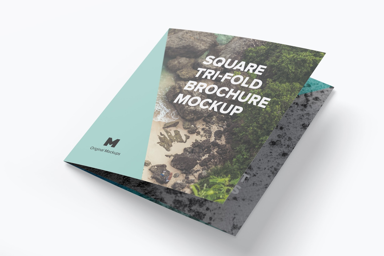Square Tri-Fold Brochure Mockup 01