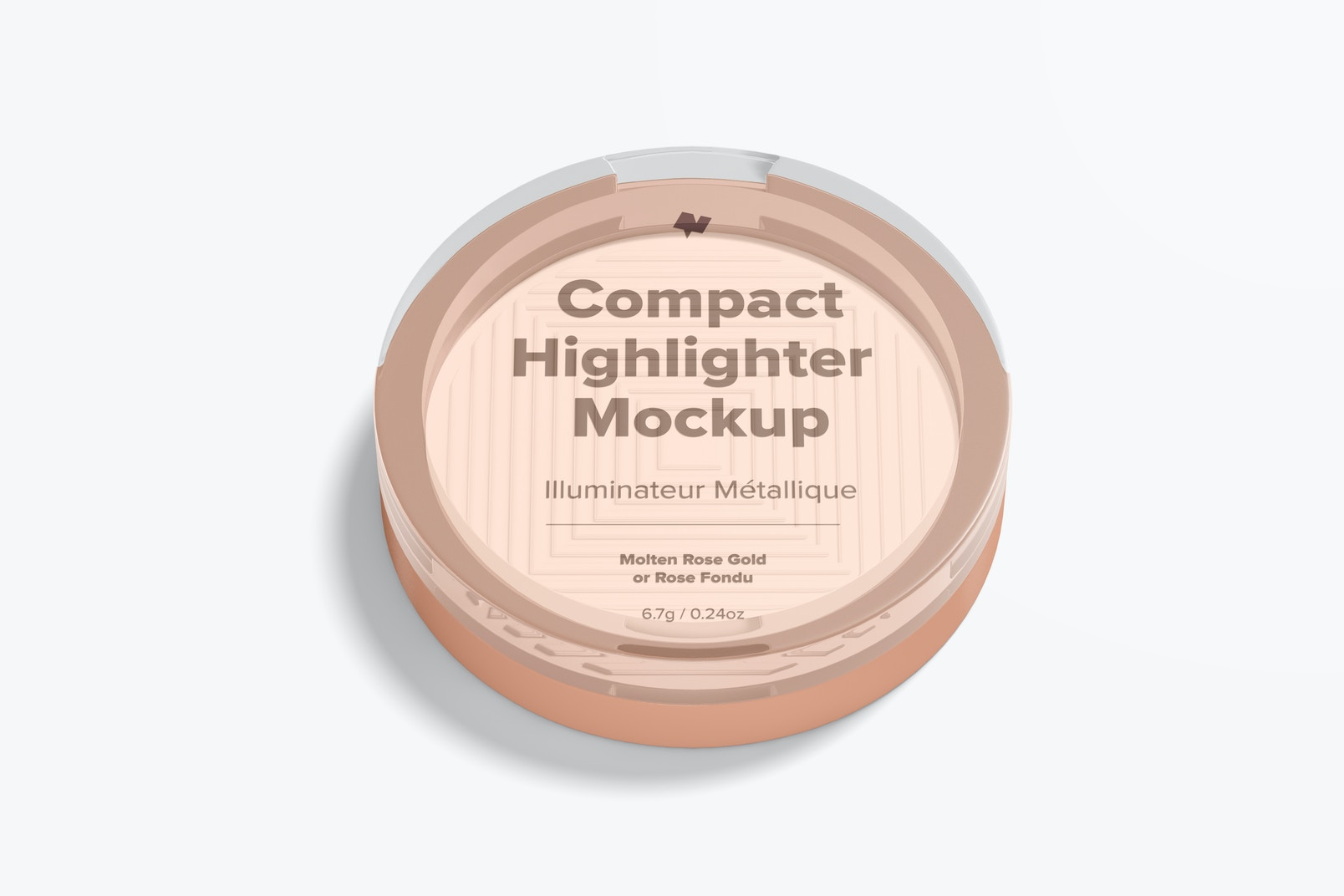 Compact Highlighter Packaging Mockup
