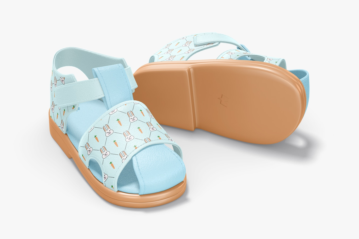 Baby Shoes Mockup, Front and Back View