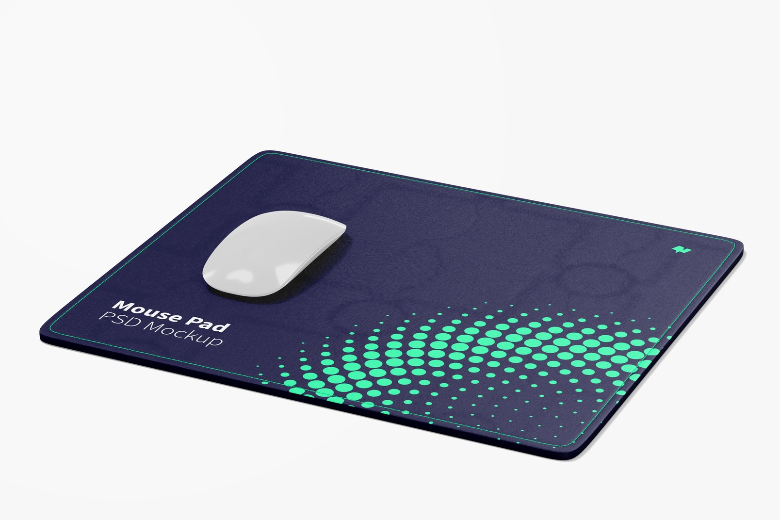 Rectangular Mouse Pad Mockup, Perspective