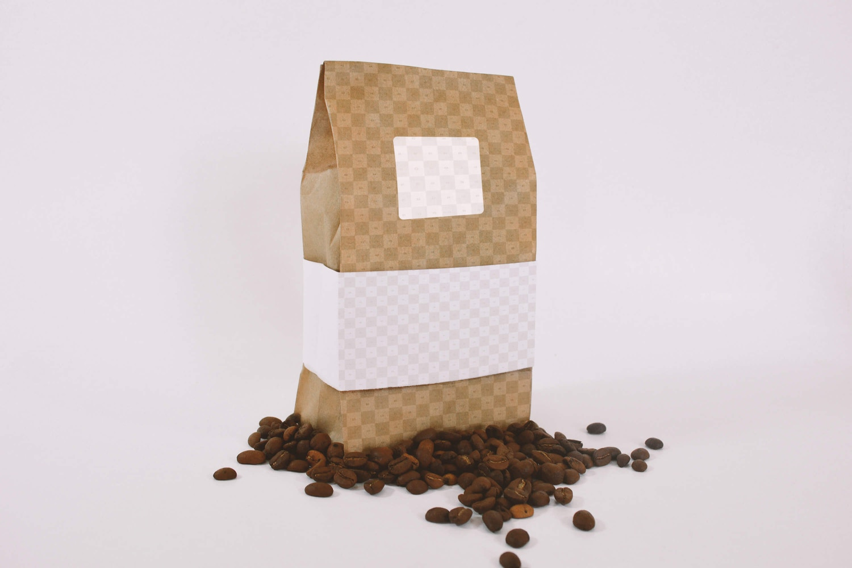 Coffee Bag Mockup Perspective View